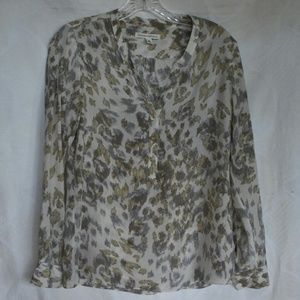 Banana Republic 100% silk cheetah sketch petite XS